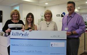 Staff at CCL Design raise £800 over the festive period
