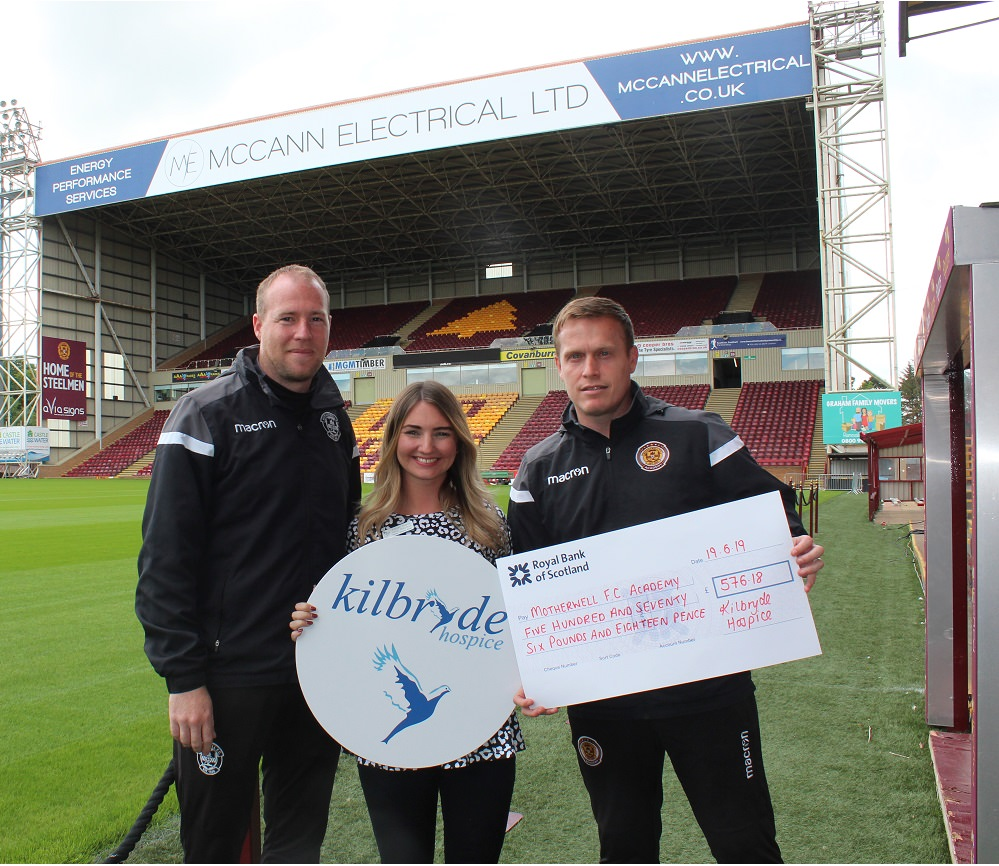 Kilbryde Hospice and Motherwell FC Academy Partnership Success