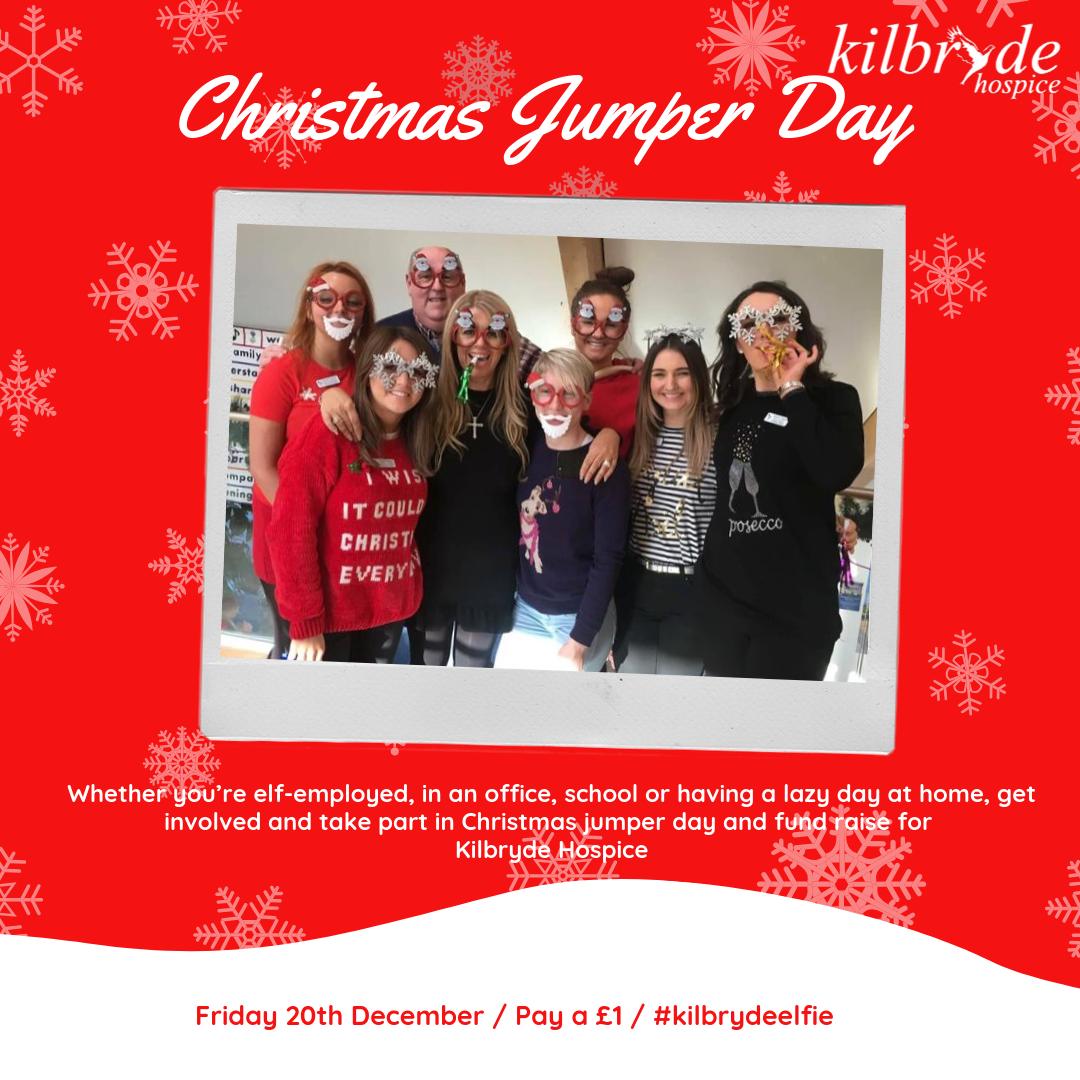 Christmas Jumper Day 2019 Uk.Kilbryde Christmas Jumper Day Kilbryde Hospice