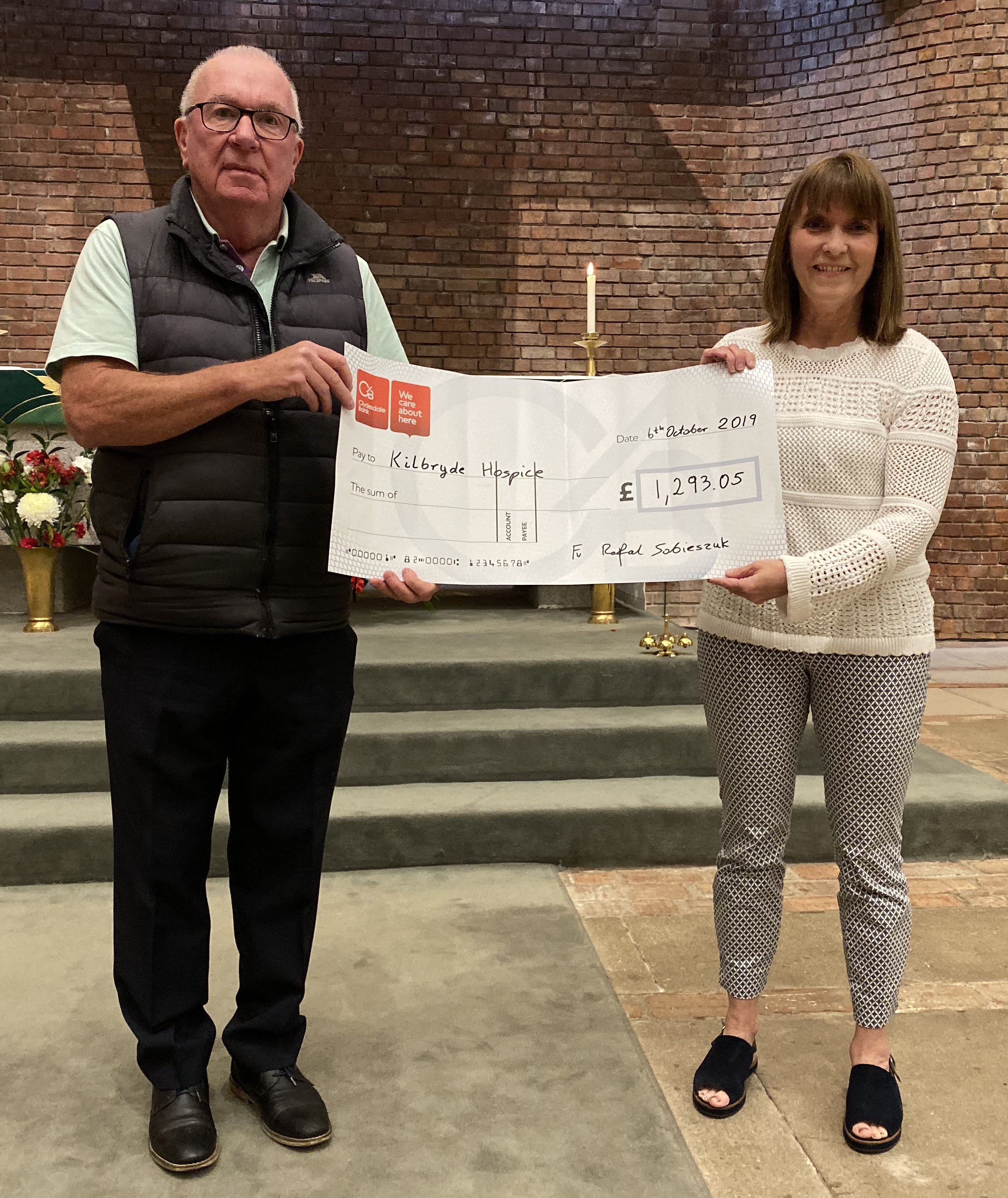 St Brides RC Church raised fabulous amount for Kilbryde