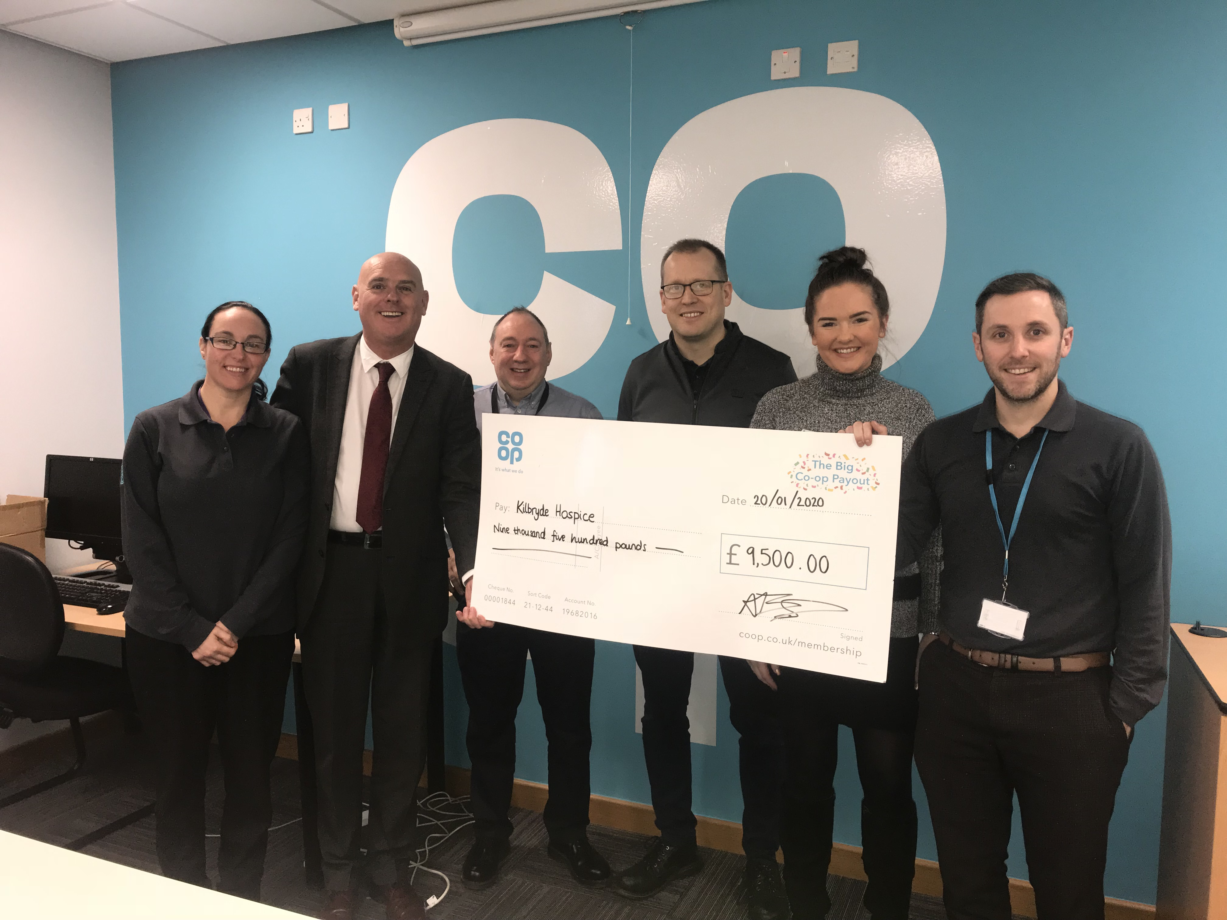 Co-op raise over £9,000 for Kilbryde!