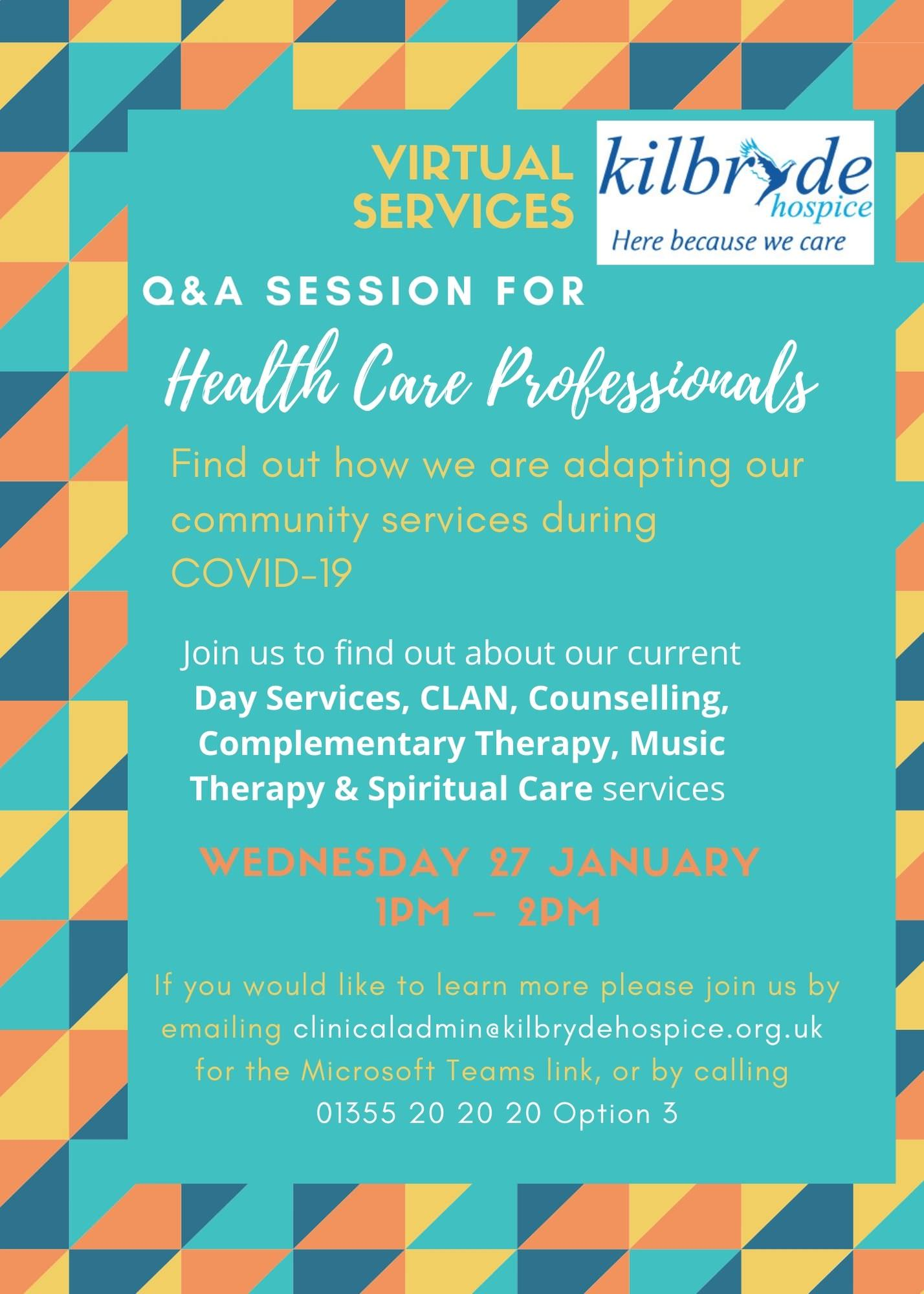 Virtual Q&A for Health Care Professionals