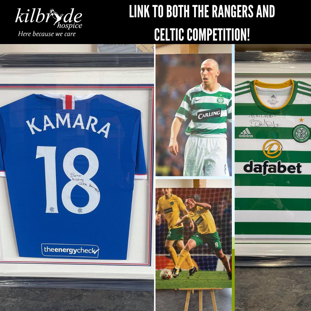 JustGiving Links: Rangers & Celtic Bonus Ball